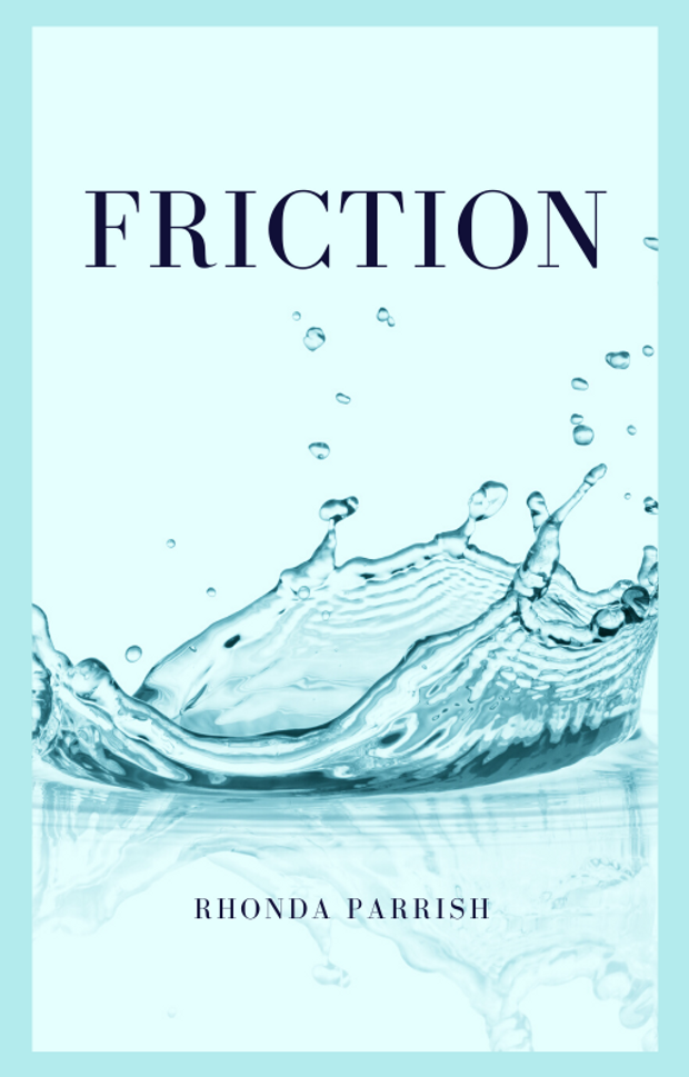 Friction book cover -- a droplet of water splashing