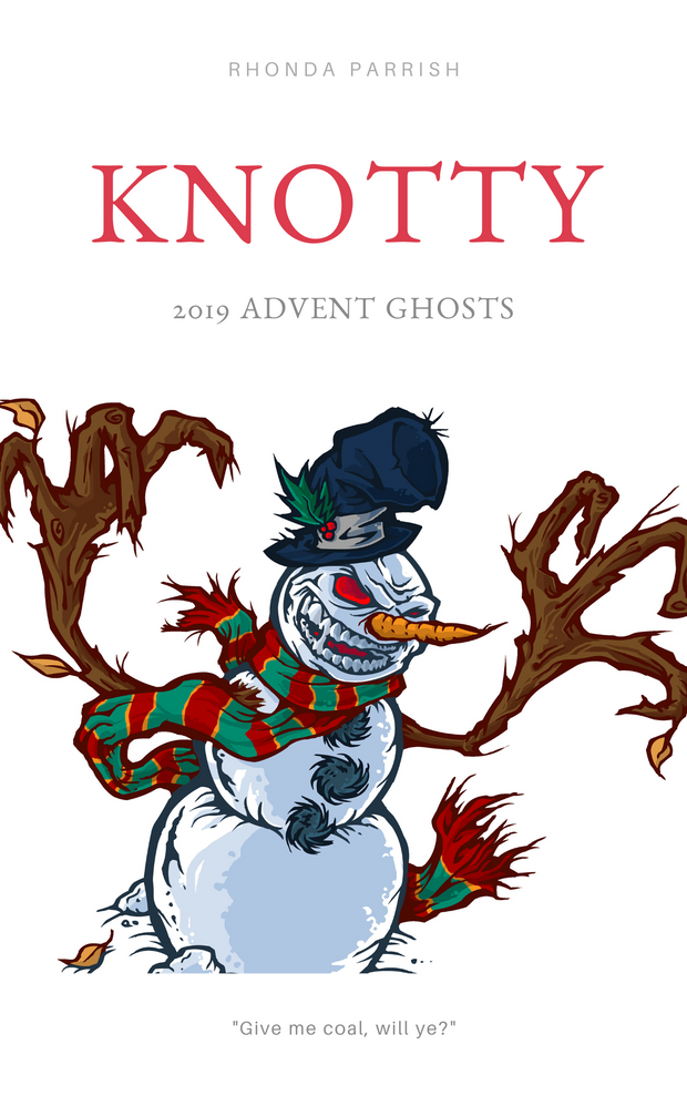 Angry looking snowman on a book cover